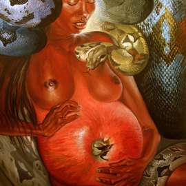 Laisk Serg Artwork Eve, 2010 Oil Painting, Surrealism