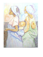 - artwork Iya_ni_Wura__Golden_Mother-1065795279.jpg - 2001, Watercolor, Love
