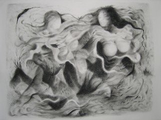 Lalit Pant Artwork nature3, 2007 Charcoal Drawing, Abstract Figurative