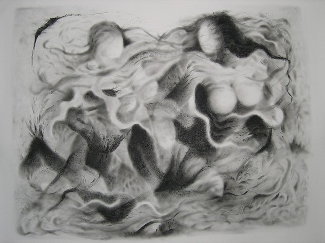 Lalit Pant  'Nature3', created in 2007, Original Drawing Charcoal.