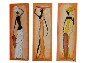 Artist: Luis Munoz - Title: African Ladies - Medium: Oil Painting - Year: 2014