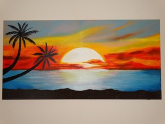 Easy Beach Sunset Paintings Nature Art Painting Oil