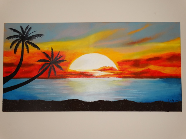 Gallery For gt Beach Sunset Oil Paintings