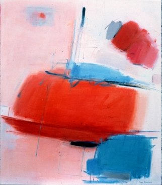 Lana Picciano: 'Red Glow', 2013 Oil Painting, Abstract. red, white and blue, vibrant and modern, expressive...
