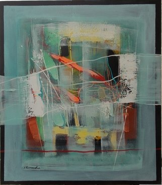 Lana Turmanidze: 'connection zxy', 2018 Acrylic Painting, Abstract.