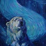 Starry Night Polar Bear By Christine Montague