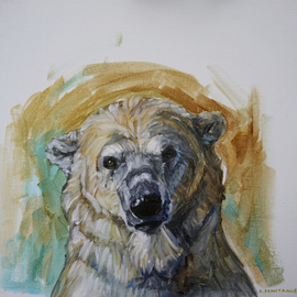 polar bear portrait study 1 By Christine Montague