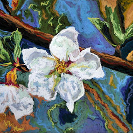 Mary Jane Erard Artwork White Flowers III, 2009 Pastel, Floral