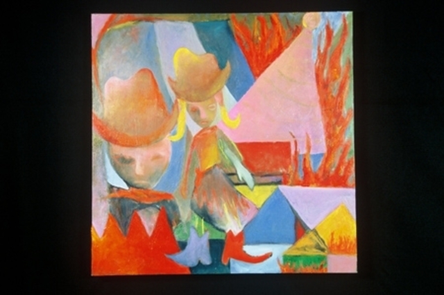 Lara Ghelerter  'Fiery Home On The Range', created in 2002, Original Painting Other.