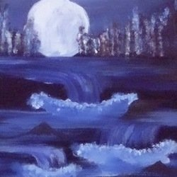 , Night Fall, Seascape, $459