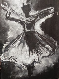 Laraib Yousaf: 'rumi black and white', 2018 Oil Painting, History. Artist Description: 80  oil and 20  acrylic painting Attractive black and white In the love of  maan  a$?...