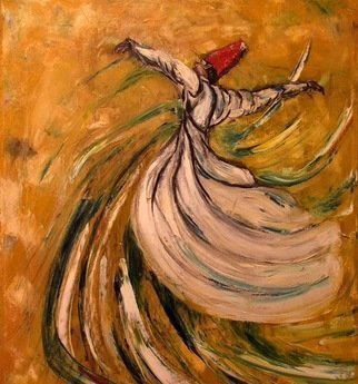 Laraib Yousaf: 'sufi', 2017 Acrylic Painting, Dance. Artist Description: Sufi rumi...