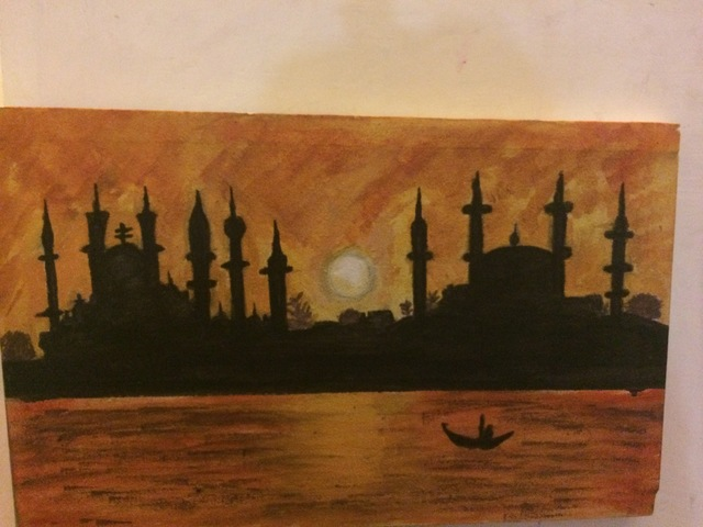 Laraib Yousaf  'Sunset In Istambul', created in 2017, Original Calligraphy.