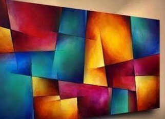 Laraib Yousaf: 'trapezium', 2017 Acrylic Painting, Abstract. Artist Description: My best dY'...