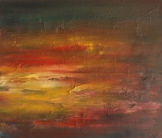 Larissa Uvarova Artwork Painting Honey Sunset, 2016 Oil Painting, Sky