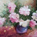 Painting Peonies and Cherries By Larysa Uvarova