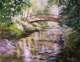 Landscape Acrylic Painting by Larry Clark Title: Talking Rock Creek, created in 2010