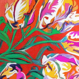 Linda Arthurs Artwork PARROT TULIPS, 2011 Other Painting, Floral