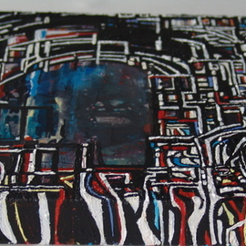 Luise Andersen: 'ABSTRACT Still  In Progr I May TwFv', 2008 Acrylic Painting, Abstract.