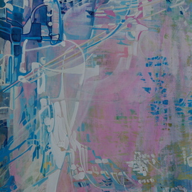 Luise Andersen: 'ANTICIPATION Choice Of View II UPDATE OF PROGRESS JTWSX', 2008 Acrylic Painting, Outsider.
