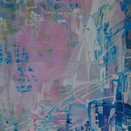 Luise Andersen: 'ANTICIPATION Choice Of View IV UPDATE OF PROGRESS JTWSX', 2008 Acrylic Painting, Outsider.