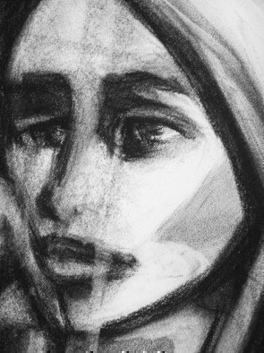 Portrait Charcoal Drawing by Luise Andersen Title: CHARCOAL V detail I Luise Mignon August twentysix to August twentyNine Twooeleven, created in 2011