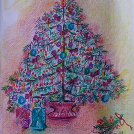 Luise Andersen Artwork CHRISTMAS TREE NO ONE Series, 2009 Other Drawing, Trees