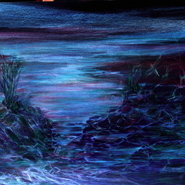 CREATIVE PROCESS OF ARTPIECE   Seascape Contemporary