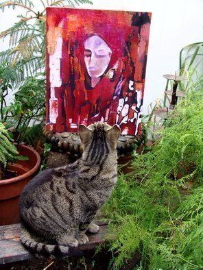 Color Photograph by Luise Andersen titled: CRITIC  By artists Cat Tiger , 2009