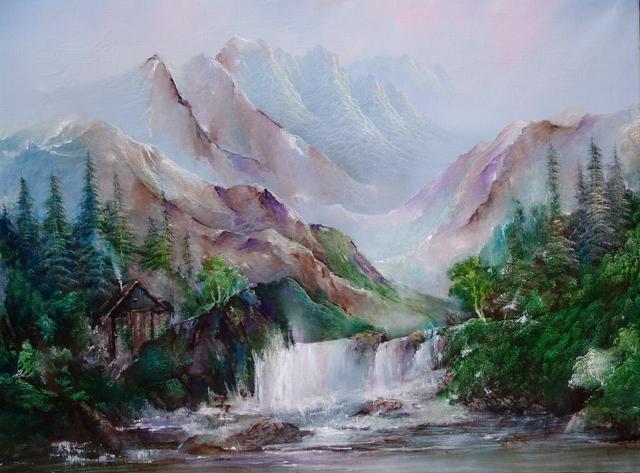 Luise Andersen Artwork Create My Mountains Water Rocks