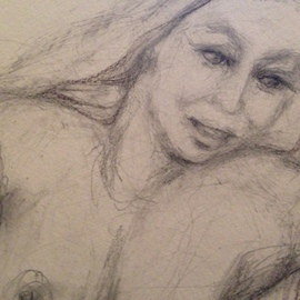 Luise Andersen Artwork DETAIL I Impregnate lines with feel I SEPT 19 2014, 2014 Pencil Drawing, Figurative