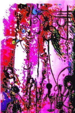 Luise Andersen Artwork DOODLE CARD  I When I Think Of You My Darling Friend, 2008 Other, Other