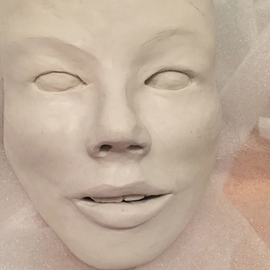 Luise Andersen: 'Dearling s Faces VII MAY 8 2015', 2015 Clay Sculpture, Abstract. Artist Description:  May 8, 2015- - smoother in feel. . worked on eyes. . chose to change form. . same in lips. . teeth in the works just a little bit smoother and more natural form. . not horse like. . cheek bones. . chin and forehead. . . ...