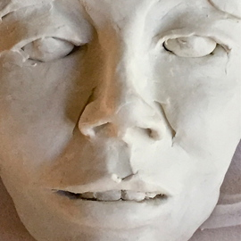 Luise Andersen: 'Dearlings  thousands of faces MAI 2015', 2015 Clay Sculpture, Abstract. Artist Description:  May 1, 205- - from heart to mind to heart. . the soul. . all seems in my hands. . need to create myself 'free' the dream flight, You' see.' . .. . need more clay. . maybe try cement too. . the urge of creating large in form overwhelms me. . must wait. . for space. . and that ...