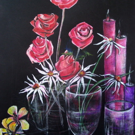 Luise Andersen Artwork FLORAL STILLIFE MIGNON WORK IN PROGRESS JUNE TWENTYTHREE Evening Pic, 2007 Other Drawing, Floral