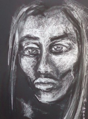 Abstract Charcoal Drawing by Luise Andersen Title: Feel Express NOVTwtFiveThrtn, created in 2013
