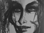 Artist: Luise Andersen, 'Feel in Black on White detail NOT JUSTWORDS III'