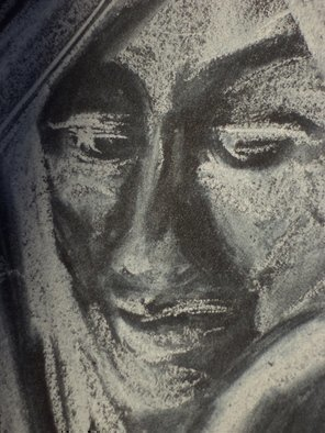 Pencil Drawing by Luise Andersen titled: Focus on feel I  DETAIL I APRIL 16 2014, 2014