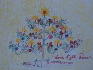 Luise Andersen: 'For The LOVE  LIGHT  PEACE', 2013 Pencil Drawing, Naive. Artist Description:  Wish for All THE LIGHT OF SPIRIT . . LOVE. . PEACE. .to build a safe. . loving . . poverty, hunger free life existence  in our World. . . . Embrace . . listen encourage. . helpAlso for our Planet. . the Nature. . Animals All That Lives. . . ...
