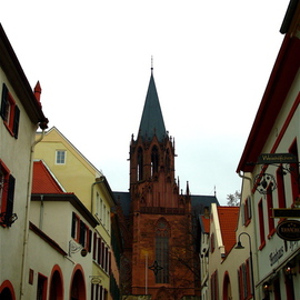 GERMANY  Streets  Houses  GOTHIC STYLE CHURCH