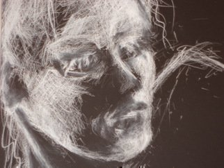 Abstract Charcoal Drawing by Luise Andersen Title: JAN 24 2014 NO II CHARCOAL 2nd  close up detail, created in 2014