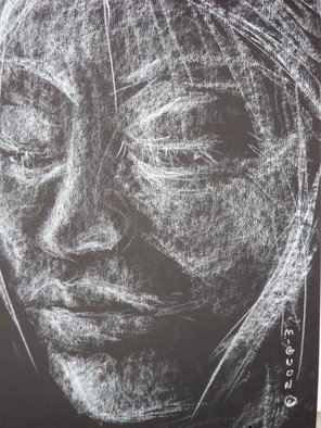 Abstract Charcoal Drawing by Luise Andersen Title: Jan 22 2014  EXPRESS FEEL  , created in 2014