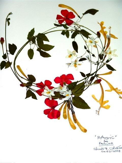 Luise Andersen Artwork Magic Birthday Card Pressed Flower Comp