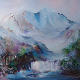 Luise Andersen Artwork MORNING ALWAYS COMES, 2009 Oil Painting, Mountains