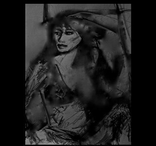 Undefined Medium by Luise Andersen titled: Mignon Extreme Series CHARCOAL ART DOODLE II, created in 2012