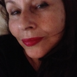 Luise Andersen: 'Mignon c  September 15 2014', 2014 Color Photograph, People. Artist Description:   Sept. 15,2014. . put my Coco Red on lips. . a touch of dark brown liner , the light behind me. . or in face. . hmmm and ready for a new profile pic. . untouched imagesRoof falls on head. . kind of thing. . so. . as most of the time. . get to of '...