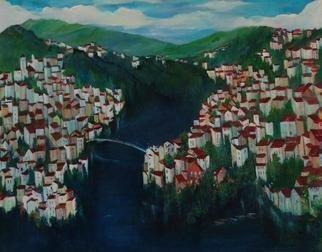 Artist: Luise Andersen - Title: My House    Your House - Medium: Acrylic Painting - Year: 2003
