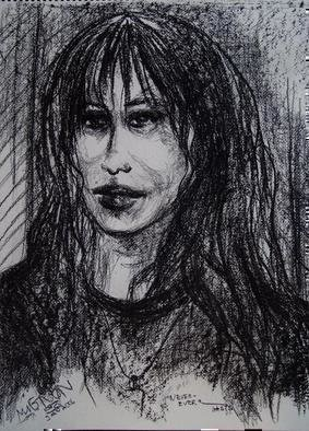 Artist: Luise Andersen - Title: NEVER   EVER   - Medium: Charcoal Drawing - Year: 2006