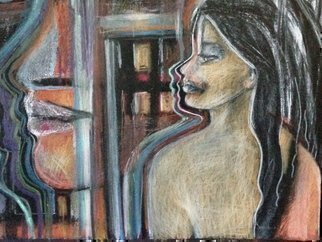 Luise Andersen: 'OCtober Me I To Draw IAA Detail', 2014 Pastel, Abstract. Artist Description:   taken daytime, inside house, without artificial light conditions....