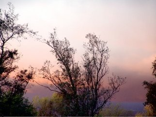 Color Photograph by Luise Andersen titled: OVER WALL Peek At Sunset I, 2009